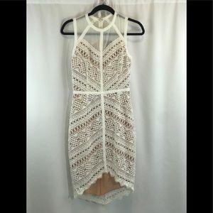 Adelyn Rae geometric design white dress - XS